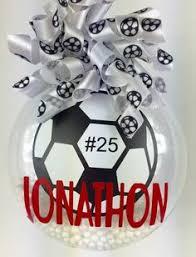 soccer ornaments to personalize personalized soccer ornament decor ideas