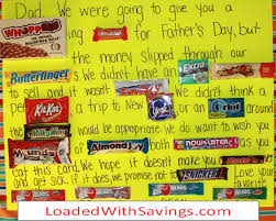 Father S Day Food Gifts Father U0027s Day Candy Bar Board With Posterboard Gifts Pinterest