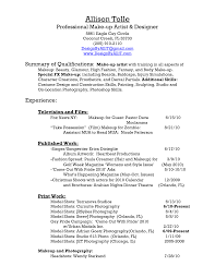 Makeup Artist Resume Sample by Professional Makeup Artist Resume Sample Virtren Com