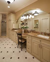bathroom linen cabinets with traditional glass tile bathroom