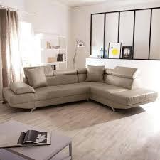 canapé en cuir d angle canape cuir 5 places salon canapac angle panoramique