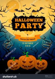 spooky pumpkins full moon halloween party stock vector 471693227