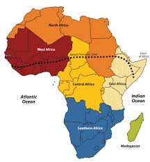 Map Of Southern Africa by Subsaharan Africa