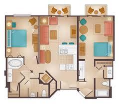 Bay Lake Tower Two Bedroom Villa Floor Plan Beach Club Villas