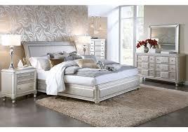 Silver Queen Bed Hefner Silver 5 Pc King Bedroom Bedroom Sets Pinterest Top