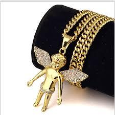 aliexpress men necklace images 70cm hiphop gold chains for men 24k gold angel chain men necklace jpg