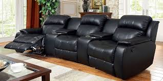 home theater sectional sofa set black bonded leather reclining sofa set home theater sectional sofa