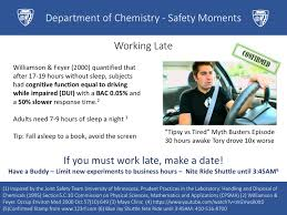 Tired Work Hours Safety Moments Chemistry Student Safety Committee Johns