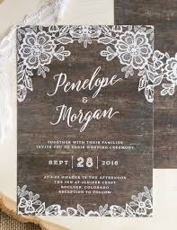 wedding invitations lace rustic lace wedding invitations the elli