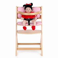 Toddler High Chairs Ikayaa Toddler Baby Wooden High Chair With Cushion Height