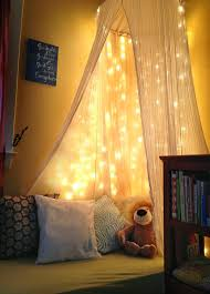 Diy Canopy Bed With Lights Room Cozy Bed Lighting For Reading Nook 20 Cozy Diy