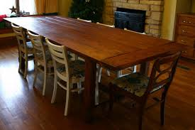 Large Wooden Dining Table by Extra Long Dining Room Table Sets Home Design