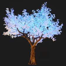 bright baum 11 ft artificial color changing ginkgo led tree