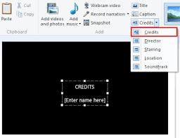 how to add titles captions and credits in windows movie maker