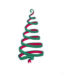 ribbon 2 christmas tree embroidery design