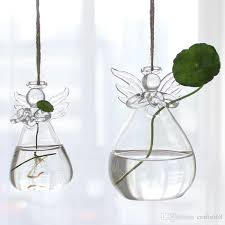 Discount Home Decorations Glass Vases Home Decoration Angel Flower Vases Wedding Decoration