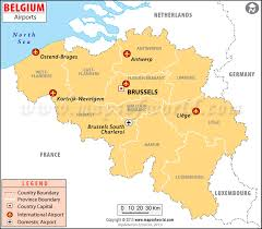 map of begium airports in belgium belgium airports map
