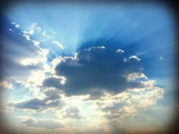 sunrays clouds tribal simplicity