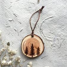 wood slice ornaments diy from your own tree