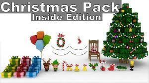 minecraft christmas furniture model pack inside edition cinema
