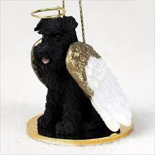 schnauzer figurine ornament statue painted black