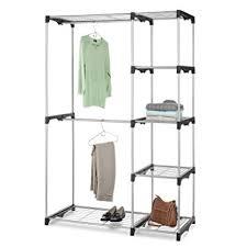 Home Network Closet Design Amazon Com Whitmor Double Rod Closet Freestanding Silver Black
