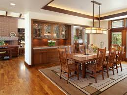 Craftsman Style Dining Room Photos Dawson Design Group Inc Hgtv