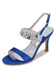 wedding shoes kg wedding shoes high heel platform backless satin flower