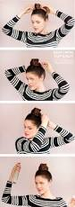 easy to do medium length hairstyles big top knot for medium length hair on what i wore