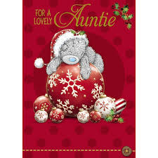 auntie christmas card me to you tatty teddy bear christmas cards