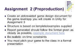 interactive multimedia games development com631 assignment 2