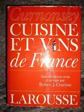 curnonsky cuisine et vins de curnonsky cuisine vins de librairie larousse 1987 ebay