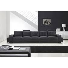 canapé droit 4 places grand canapé droit en cuir pleine fleur fabio 5 places option lit co