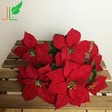 wholesale cheap flower artificial poinsettia flower buy