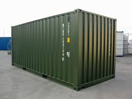 20 u0027 green ral 6007 shipping containers