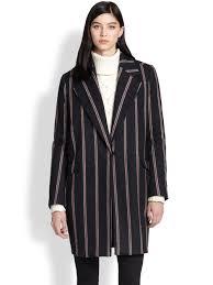 elizabeth and james iris striped boyfriend coat in blue lyst