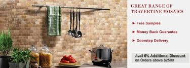 Buy Travertine Mosaic Tile Backsplash Kitchen Tilesbaycom - Travertine mosaic tile backsplash