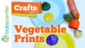 crafts for kids vegetable prints youtube