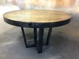 round metal dining room table industrial style dining sets the most round metal dining table