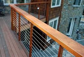 Railings And Banisters Ideas Lowe U0027s Deck Railing Ideas Railing Ultra Tec Cable Railing