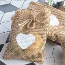 burlap gift bags aliexpress buy heart burlap gift bags 10x15cm 4 x6 pack