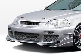 1999 2000 honda civic all models avenger front bumper cover vis