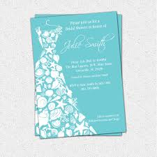 bridal shower invitation seashell dress elegant sea shell