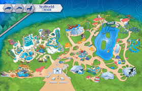 San Antonio Texas Map Theme Park U0026 Attractions Map Seaworld San Antonio