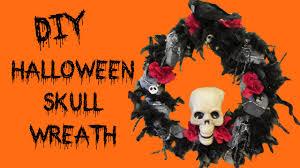 halloween skull wreath diy craft klatch dollar store craft
