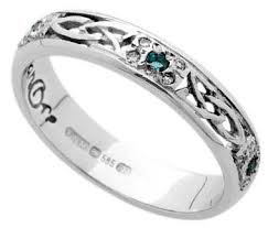 celtic wedding rings ws6w2ed celtic wedding ring with emeralds and diamonds
