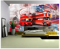 3d customized wallpaper home decoration the streets of london red 3d customized wallpaper home decoration the streets of london red bus backdrop wall mural photo wallpaper in wallpapers from home improvement on