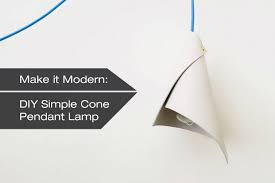 how to make a diy simple cone pendant lamp design milk