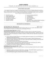 Canada Resume Template Accountant Resume Format Accounts And Finance Resume Format