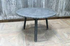 zinc top round dining table metal top round dining table industrial zinc top round dining table